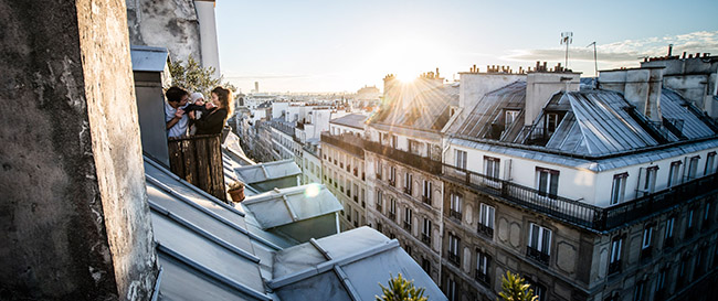 Paris rue des Martyrs Shooting Famille
